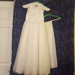 Floor length flower girl dress fit for a princess